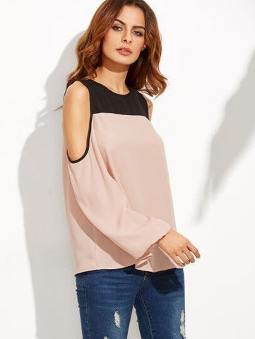 chiffon off shoulder top for women