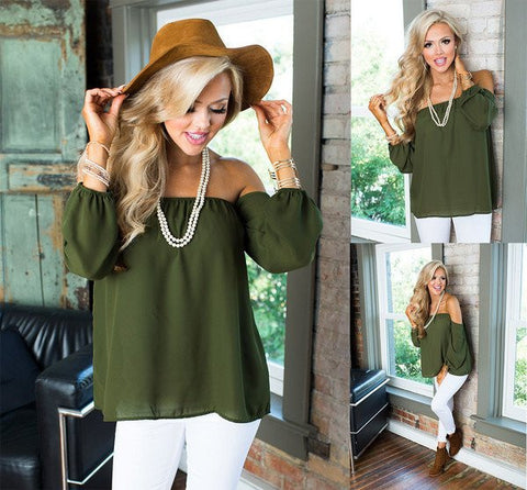 solid off shoulder top for women