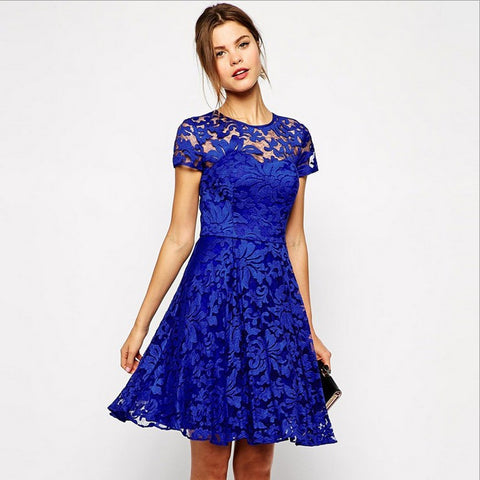 lace dress blue sideview