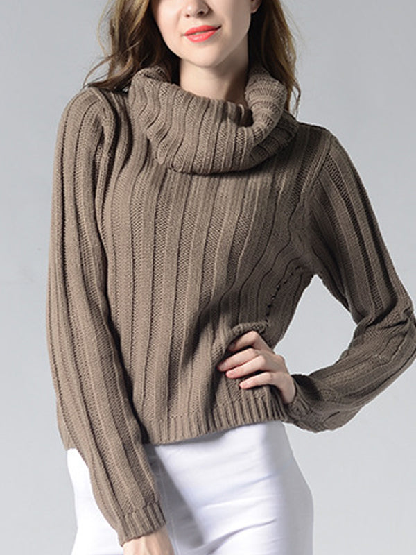 Loose Fit Turtle Neck Sweater - Hautify