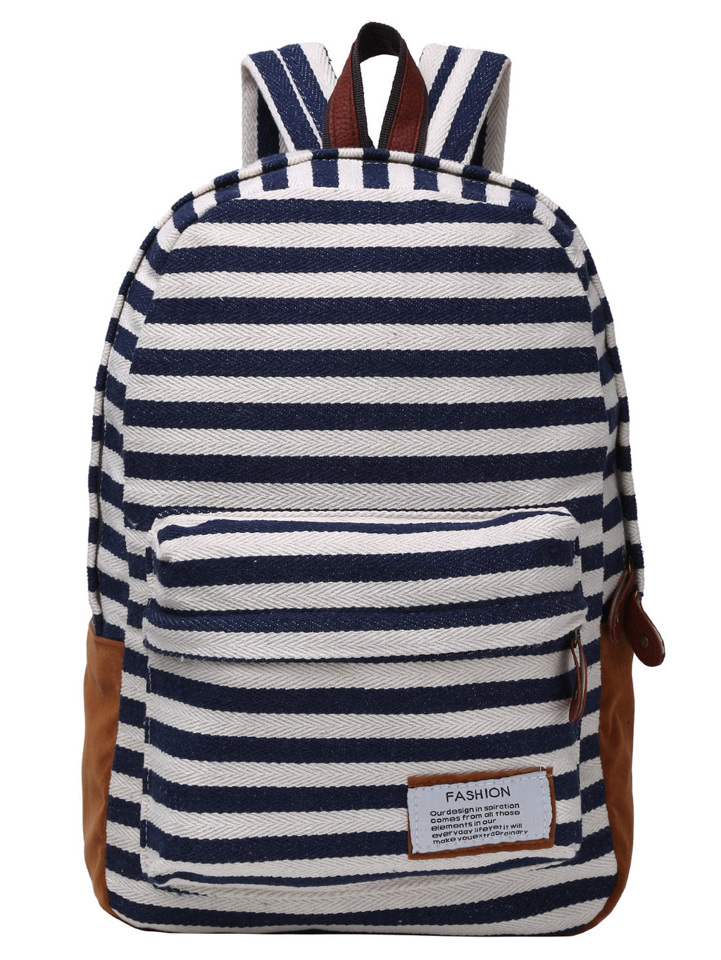 Fashion Striped Canvas Backpack - Hautify