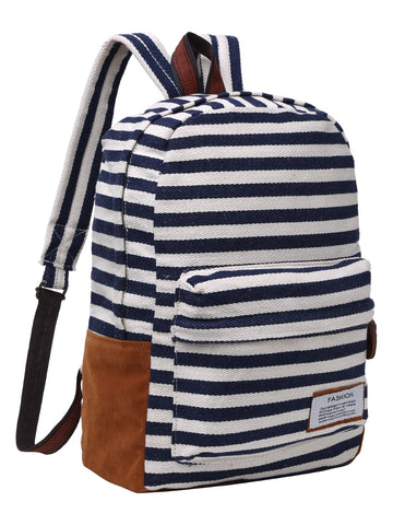 Fashion Striped Canvas Backpack
