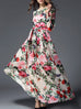 Marion Floral Printed Flare Ball Maxi Dress for Women - Hautify