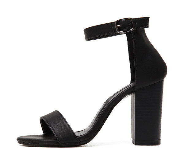 Peep Toed Gladiator Shoes Black Sandals - Hautify