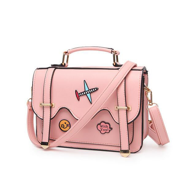 Cartoon Stamp Hasp Square Shoulder Bag