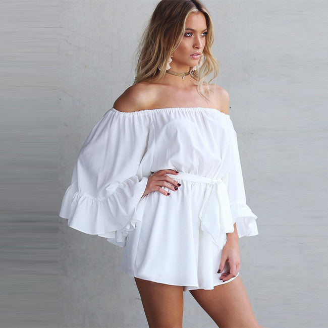 Calypso  Sleeve Boat Neck Rompers - Hautify