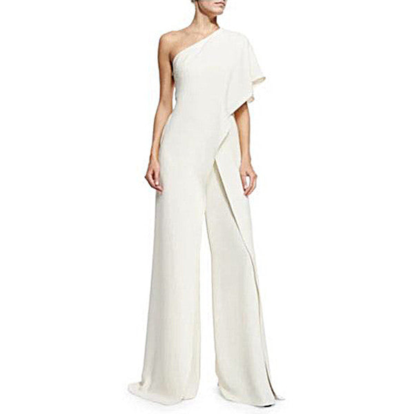 Off the Shoulder Ruffled Flounce Jumpsuit for Women