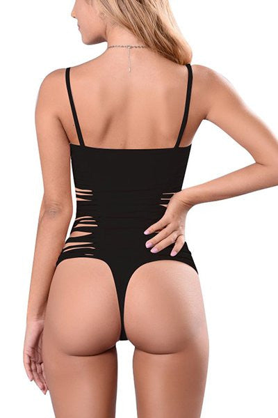 MC Open Back Sexy Solid Thong String Swimsuit - Hautify