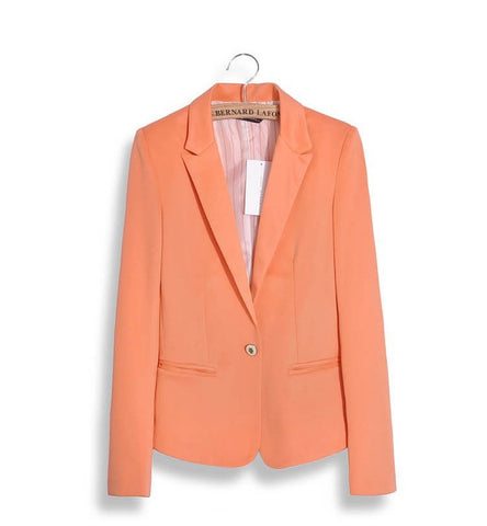 Long Sleeve Lined Solid Blazer for Women