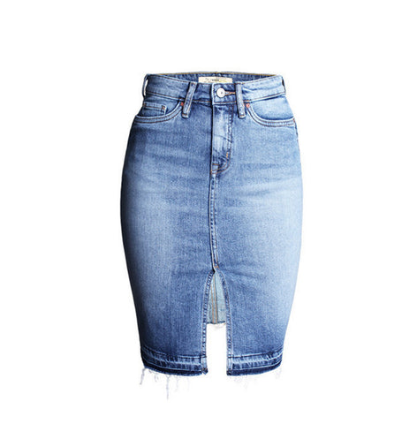 Washed Up Slit Ladies Denim Skirt