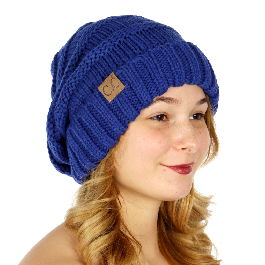 Oversized Slouchy Knit Hat - Hautify