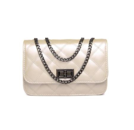 Chain Strap Quilted Shoulder Bag - Hautify