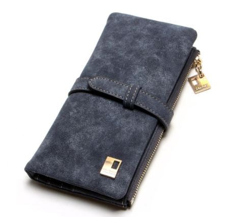 MC Nubuck Leather Women's Zipper Wallet