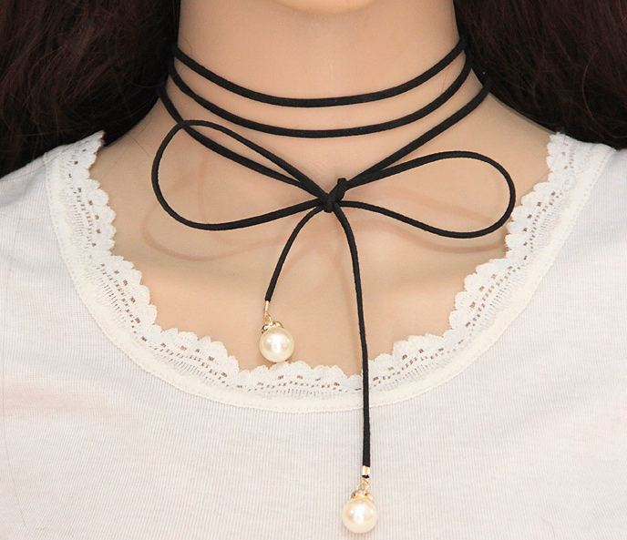 Fashion Lace Pearl Multi-Layer Choker