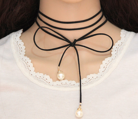 Fashion Lace Pearl Multi-Layer Choker - Hautify