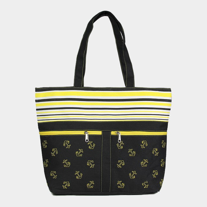 Yellow Beach Tote Bag