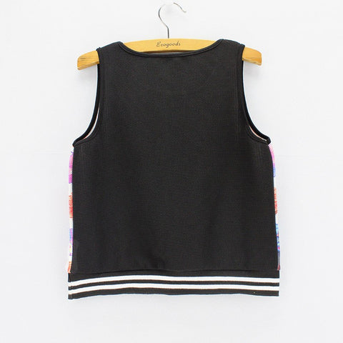 Cute Cat Print  Tank Crop Top for Women One Size