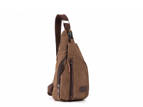 Men's Canvas Crossbody Bag Zippered