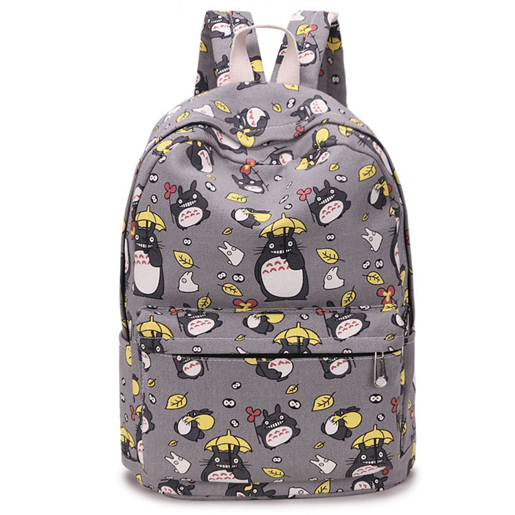 Totoro Print Backpack for School