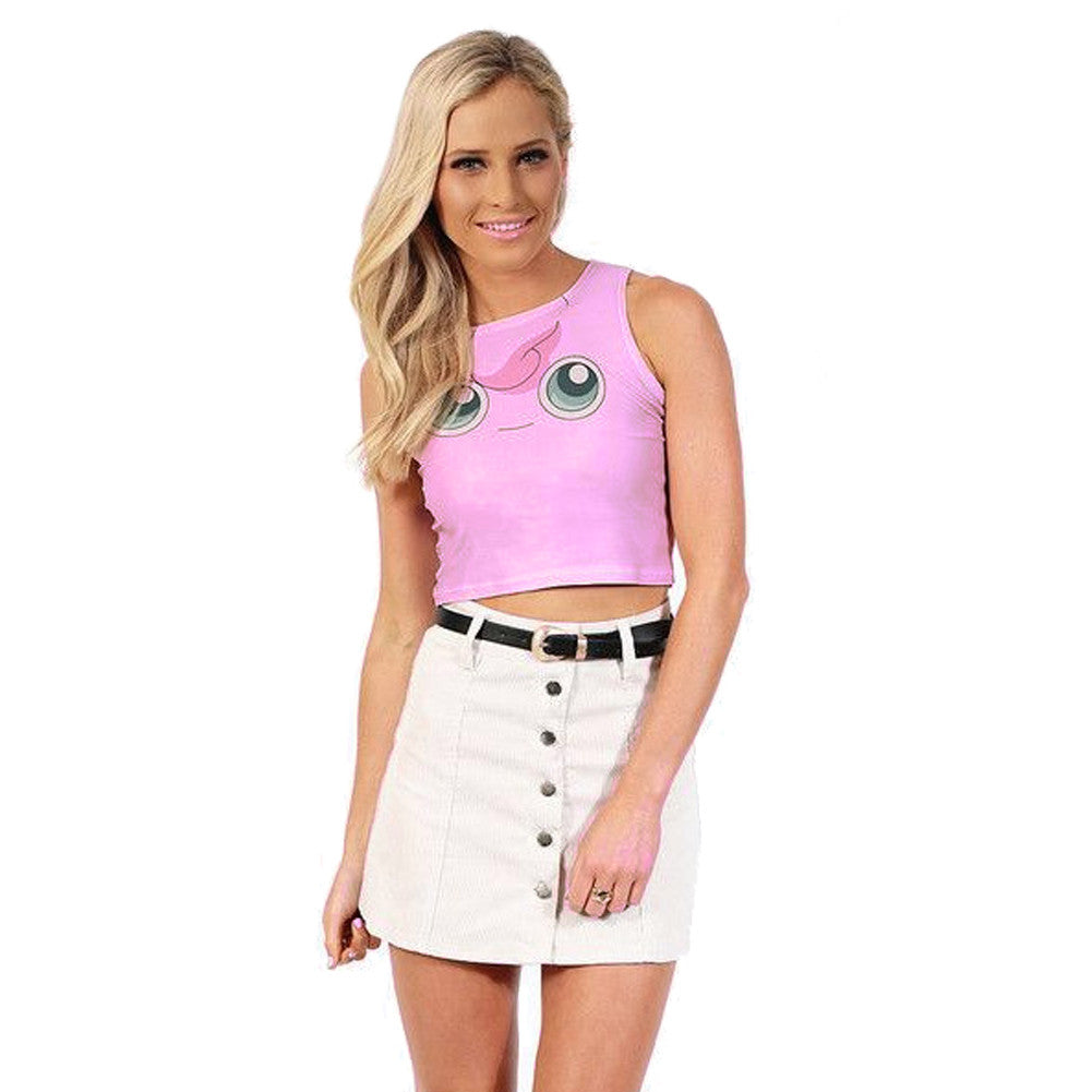 Cute Cartoon 3D Print Crop Top for Women