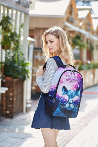 3D Cat Backpack for Girls