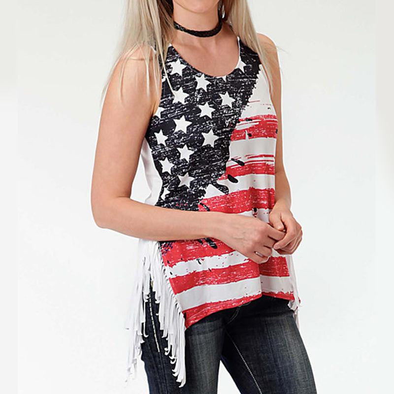 Stars and Stripes Womens Tank Top Plus Size