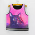 Cute Cat Print  Tank Crop Top for Women One Size - Hautify