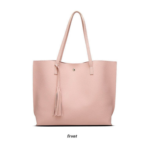 Women Shoulder Bag Soft Leather Top Handle Tote - Hautify