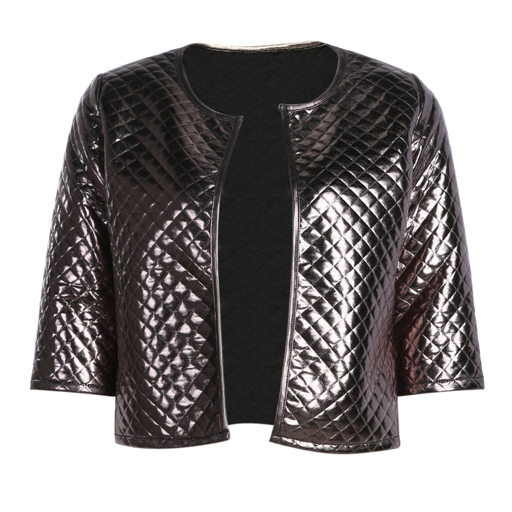 Sequins Quarter Sleeve Jacket for Women - Hautify