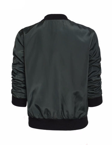 Slim Fit Casual Bomber Jacket