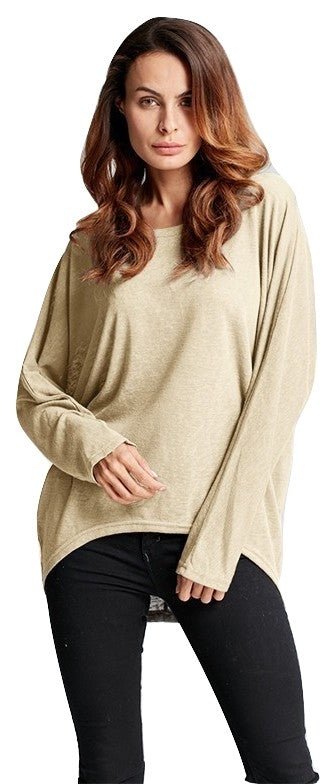 Batwing Sleeve Relaxed Fit Top