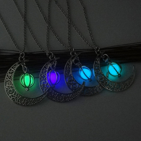 Hanging Stone Luminous Pendant Necklaces - Hautify