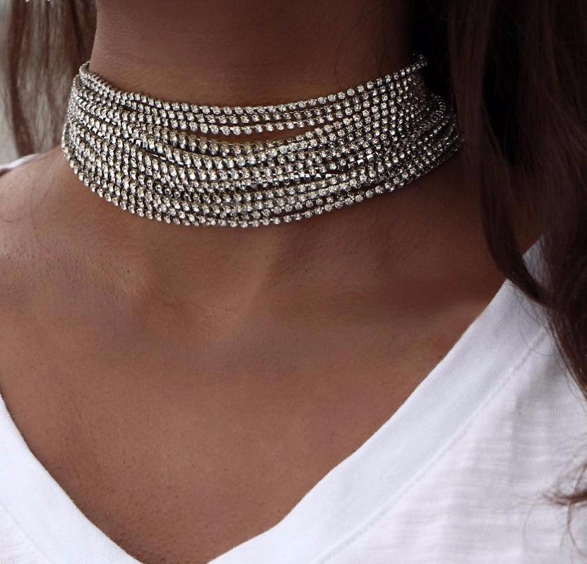 Multi Chain Choker Cheap Women Necklaces - Hautify