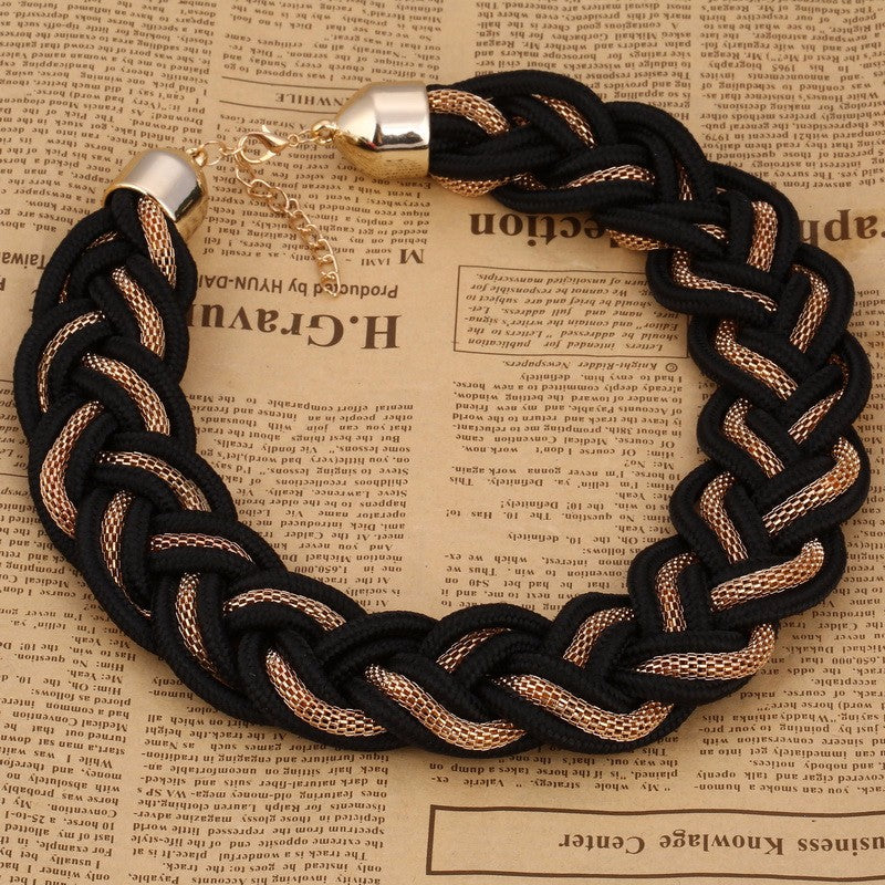 Colorful Braided Rope Choker Necklace - Hautify
