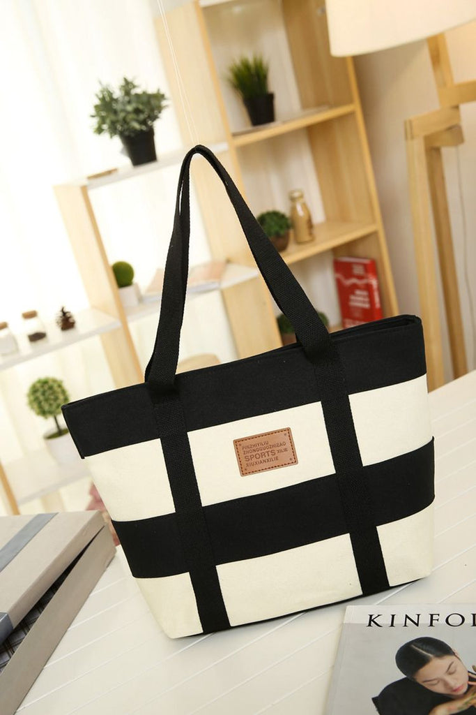 High Quality Canvas Casual Beach Tote Bags - Hautify