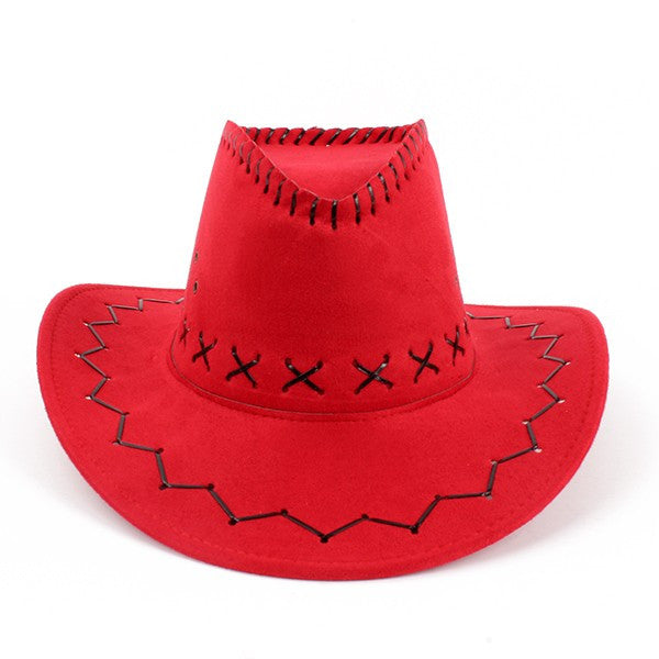 Macha Collection Weaved Rope Felt Trendy Unisex Cowboy Hats