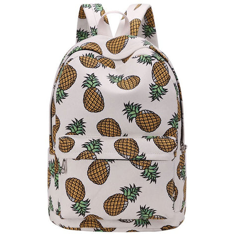 Pineapple Print Teenager Backpack - Hautify