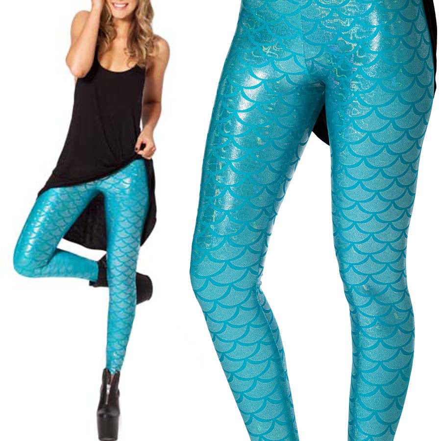 Mermaid Pattern Leggings S- 3XL