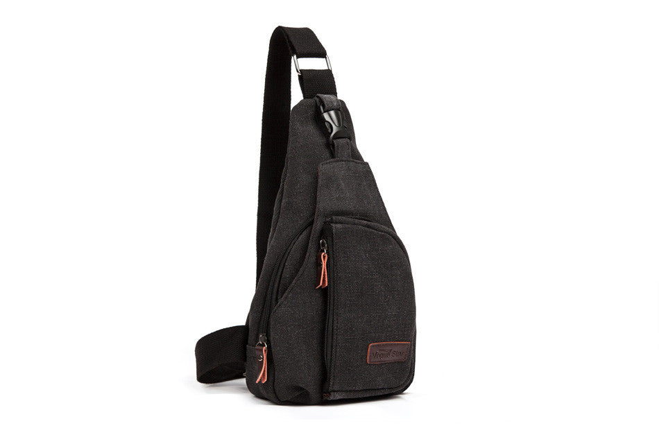 Men's Canvas Crossbody Bag Zippered - Hautify