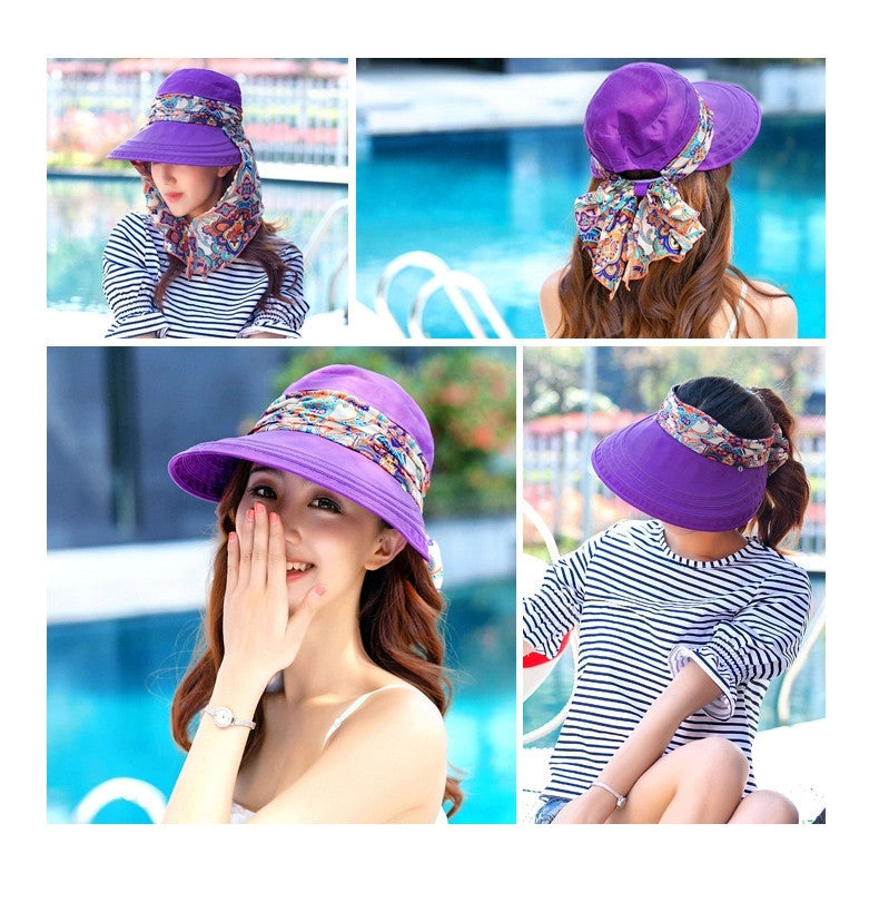 Foldable Wide Large Brim Floppy Beach Hat  Outdoors Visors Cap - Hautify