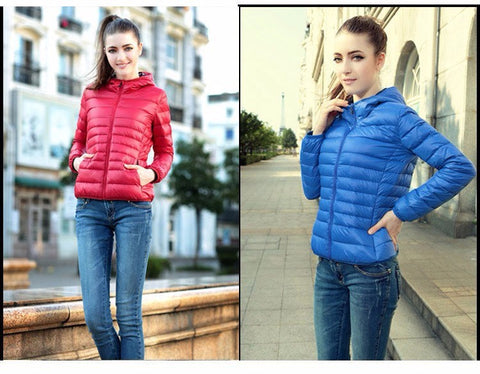 Puffy  Hooded Solid Jacket for Women - Hautify