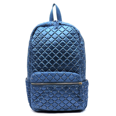Micro Studded Quilted Backpack