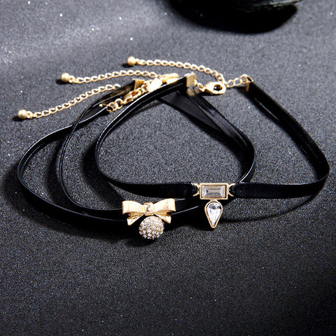 Separable 4-piece Choker Necklace