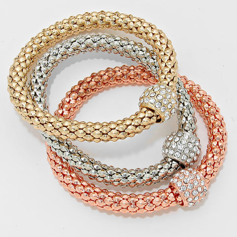 Mesh Metal Stretch Bracelet Set - Hautify
