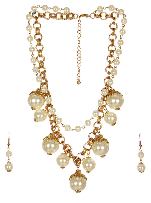 Multi Pearl & Chain Necklace - Hautify