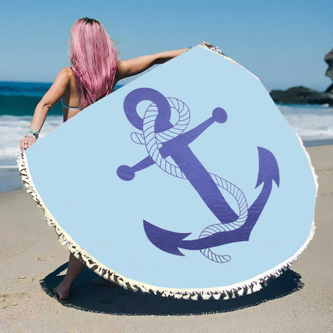 Multi-Way Round Beach Throw