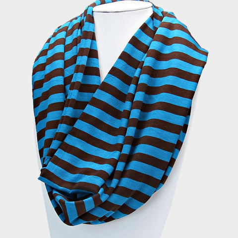 Striped Spring Light  Infinity Scarf - Hautify
