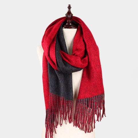 Cozy Soft Brushed Fringe Scarf Shawl - Hautify
