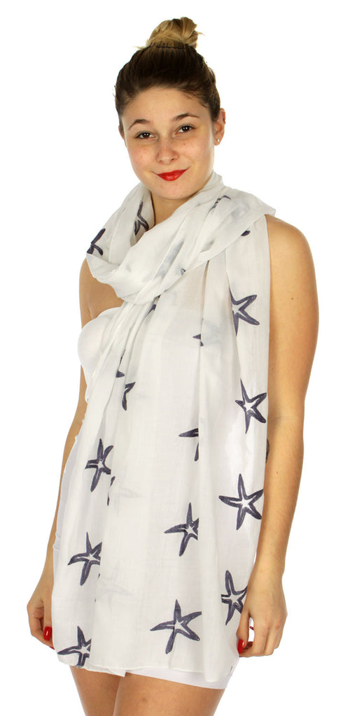 Starfish Embroidered Scarf - Hautify