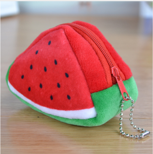 Cute 3D Triangle Fruit Coin Purse